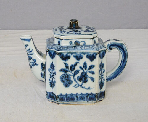 Chinese  Blue and White  Porcelain  Teapot  With  Mark     M2169