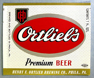 Ortlieb Brewing ORTLIEB'S PREMIUM BEER label PA 7oz