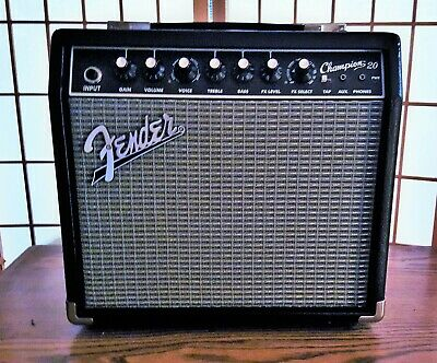 Fender Champion 20 20-Watt Electric Guitar Amplifier - Black