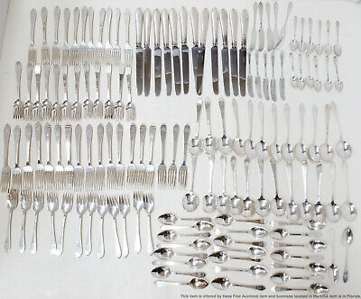 Vintage Tiffany & Co Faneuil Sterling Silver 135 Piece Flatware Set