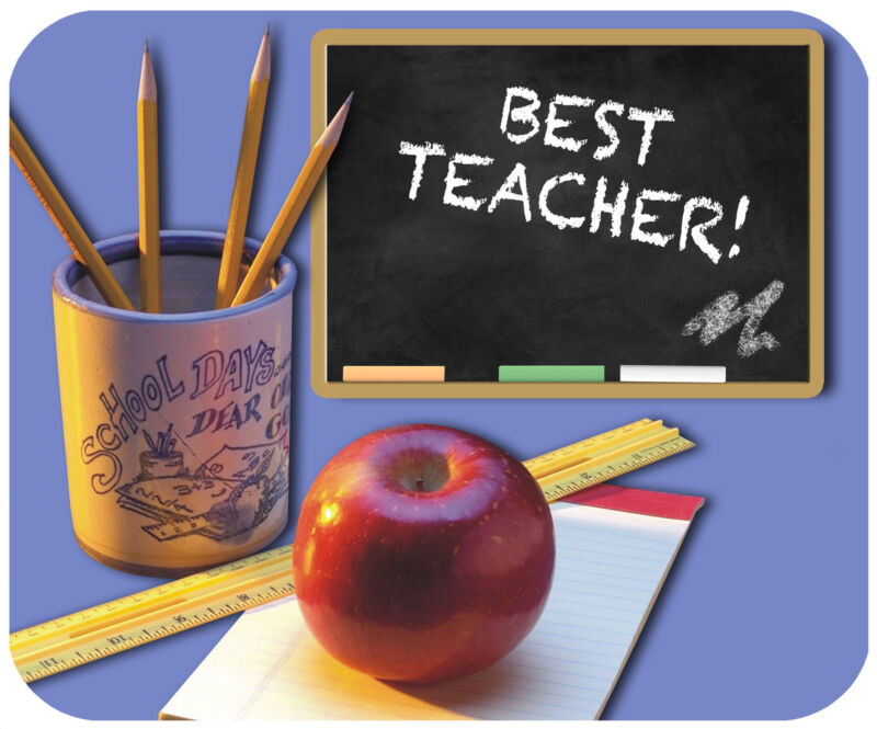MOUSE PAD PERSONALIZED CUSTOM THICK MOUSEPAD-TEACHER-ADD ANY TEXT