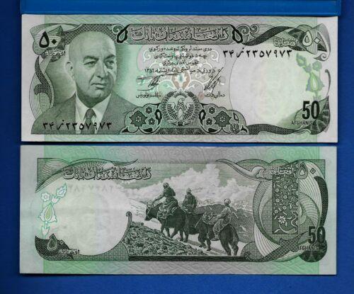 Afghanistan P-49 50 Afghanis Year 1973-1977 Uncirculated Banknote