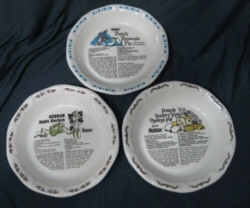 Watkins Pie Plates - Set of 3