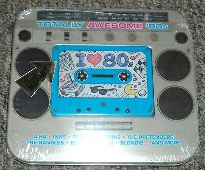 Totally Awesome '80s CD New 17 Track Rhino Magnet A-Ha Inxs Blondie Tin - Totally 80s Cd