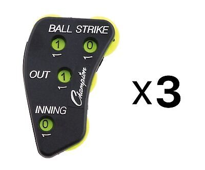 Champion Sports 4 Wheel Optic Yellow Call Order Umpire Indicator - PI4 (3-Pack) 3 Wheel Umpire Indicator