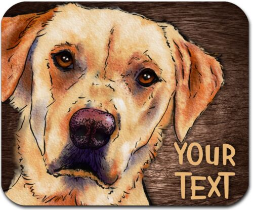 MOUSE PAD PERSONALIZED CUSTOM THICK MOUSEPAD-WATERCOLOR LABRADOR-FREE SHIPPING