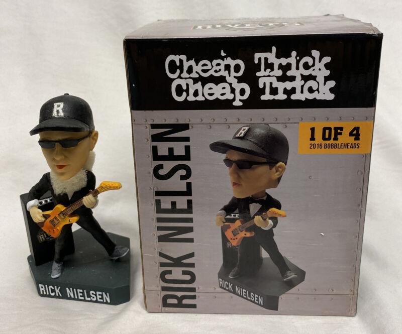 2016 Rick Nielsen Cheap Trick Bobblehead SGA Rockford Rivets New In Box