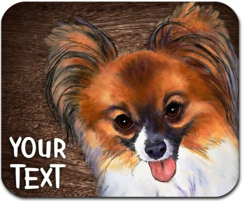 MOUSE PAD PERSONALIZED CUSTOM THICK MOUSEPAD-WATERCOLOR PAPILLON - FREE SHIPPING