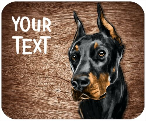Mouse pad custom personalized, thick mousepad-watercolor Doberman