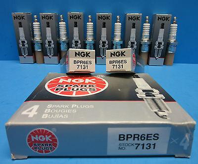 (Set 6 NEW Genuine NGK 7131 Spark Plugs OEM# BPR6ES Made in Japan)