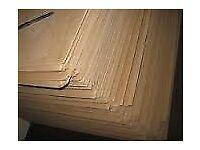 Hardboard full sheet 2400x1200x3mm USED 15 Sheets