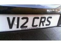 PRIVATE NUMBER PLATE V12 CRS FOR MERCEDES, JAGUAR, BMW, PORSCHE, FERRARI, ALPHA ROMEO, RENAULT, FORD
