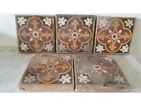 5 Reclaimed Victorian Fireplace Tiles