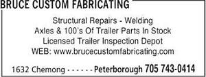 BRUCE CUSTOM FABRICATING Peterborough Peterborough Area image 1