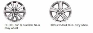 16-inch alloy rims for 2010 Corolla