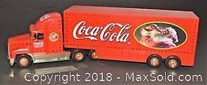 COCA-COLA 2000 Holiday Gold Caravan Toy Truck - This is a serial numbered