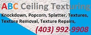 Texturing, Texture Removal, Repairs, Refinishing 403-992-9908