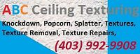 Texture Removal, Repairs, Refinishing, ABC Ceiling Texturing