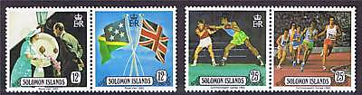 Solomon Is 1982 Royal Visit & Games prs SG 471/4 MNH