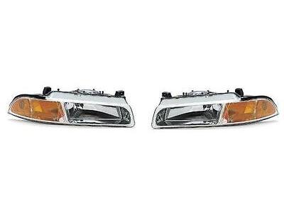 97 98 99 00 Breeze Cirrus Stratus Headlight Pair Set Both NEW Headlamp Front