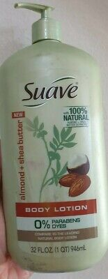 Suave ALMOND + SHEA BUTTER Natural Body Lotion 100% Natural Extracts 32 FL
