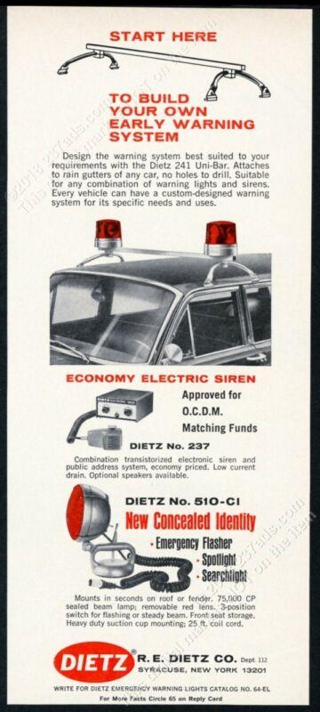 1966 Dietz revolving light flasher spotlight photo vintage trade print ad