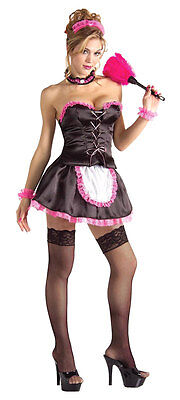 Pinkie the French Maid Upstairs Chamber Sexy Dress Up Halloween Adult Costume - Pinky Halloween Costume