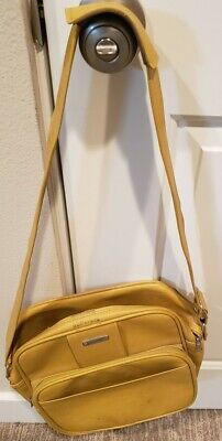 Vintage SAMSONITE MONTEBELLO II Carry On Luggage Shoulder Bag Tote Gold