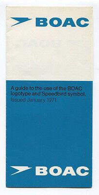 BOAC LOGOTYPE & SPEEDBIRD SYMBOL GUIDE 1971 B.O.A.C.