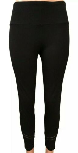 NWT Womens Calvin Klein Black Accent Stripe Active pants Lar