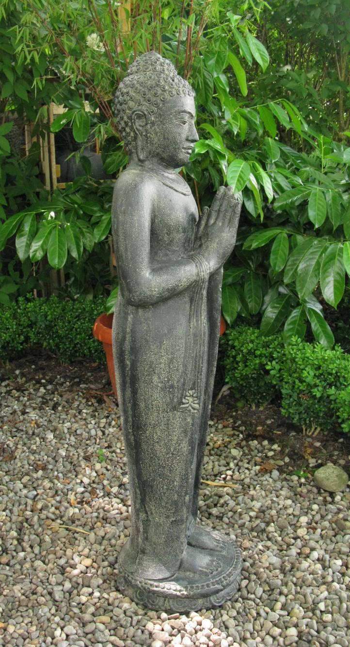 buddha gr end indonesien lavastein skulptur statue feng. Black Bedroom Furniture Sets. Home Design Ideas