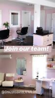 Stylists, Barbers, Esthetician's, Lash Tech wanted!