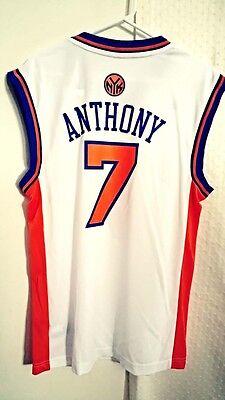 New York Knicks Jersey (Adidas NBA Jersey New York Knicks Carmelo Anthony White sz M )