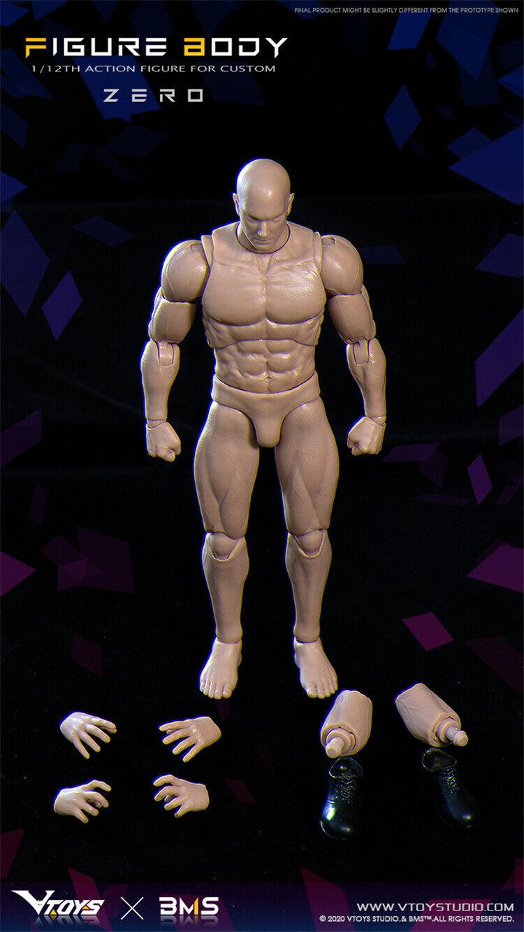 """как выглядит VTOYS x BMS 1/12 Zero VSD003 Body 6"""" Flexible Male Action Figure Doll Model Toy фото"""