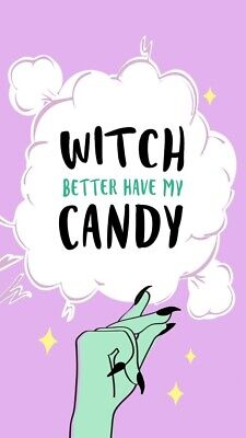 "Halloween Candy Quotes (3"" Witch Halloween Candy Spooky Funny Creepy Goth Horror Vinyl Cool)"