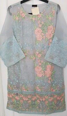AGHA NOOR 3Pcs medium embroidered Shirt trouser khaadi sana sapphire