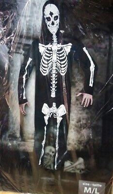 Costume scheletro/morte costume uomo adulto halloween