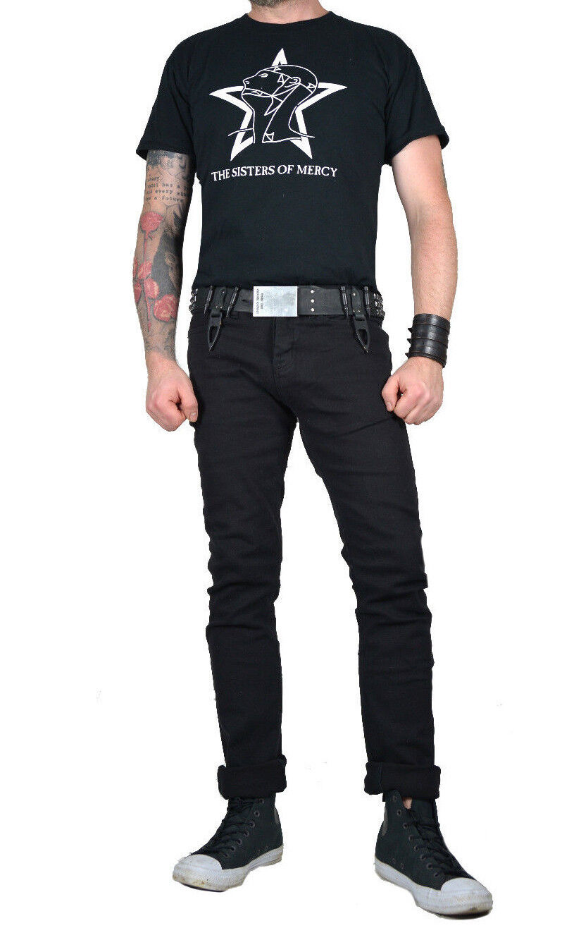 KILL CITY SLICK ROCKER STRAIGHT SLIM FIT GOTHIC PUNK STAGE JEANS PANTS BIKER Clothing, Shoes & Accessories