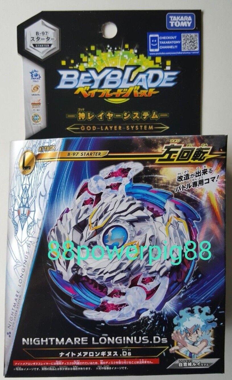 Купить Takara Tomy - Takara Tomy Beyblade Burst B-97 Starter Nightmare Longinus .Ds US Seller
