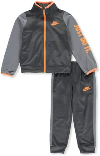 Nike Boys Sportswear Just Do It Full Zip Track Suit Anthracite 86C626 Size 6