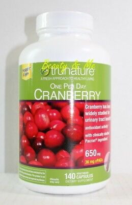 Maintaining Healthy - trunature CRANBERRY 650mg, 140 Capsules ** Maintain Healthy Urinary Tract **