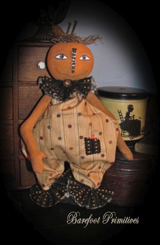 Primitive Halloween Fall Pumpkin doll Ollie Paper Patten