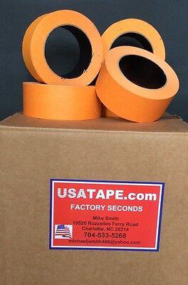 48 Rolls 1 X 60 Yards Orange Automotive Painters Masking Tape Made In Usa