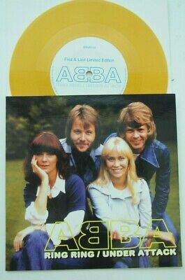 Abba First & Last RING RING / UNDER ATTACK Agnetha Cover Gold Vinyl MINT UNPLAYE