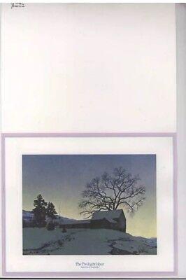 Maxxfield Parrish Twilight Hour Christmas Card