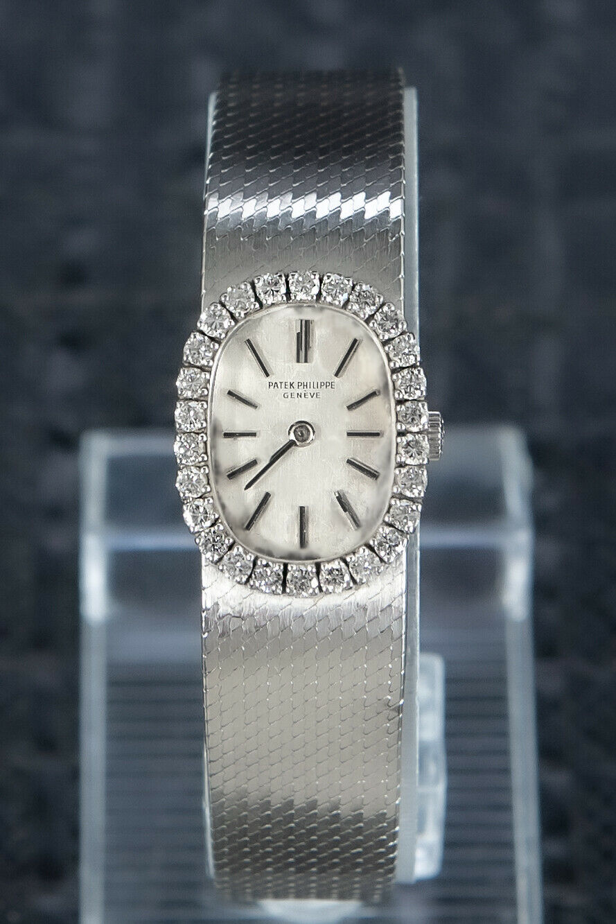 RARE PATEK PHILIPPE VINTAGE 1960S 18K WHITE GOLD VVS1 FACTORY DIAMONDS 3377/1⌚⌚ - watch picture 1