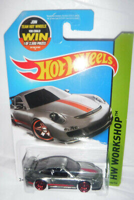 2013 Hot Wheels HW Workshop Walmart Exclusive ZAMAC Porsche 911 GT3 RS