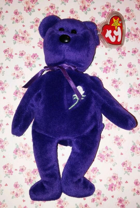 NWT 1st Edition Ty Princess Diana 1997 Beanie Baby No Number No space