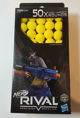 Nerf Rival 50X Rounds High Impact Yellow Balls Ammo Bullets HASBRO NEW