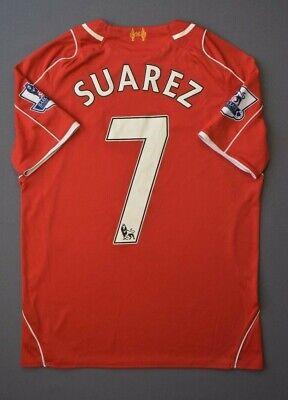 fad22bee264 5 5 Suarez Liverpool jersey small 2014 2015 football shirt warrior soccer  ig93
